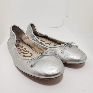 Sam Edelman Felicia silver ballet flats size 9